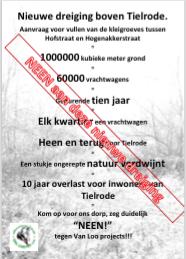 Affiche: Nieuwe dreiging boven Tielrode